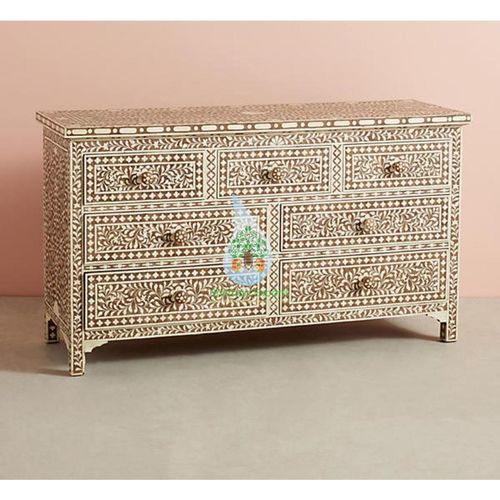 Bone Inlay 7 Drawers Bedroom Dresser Cabinet