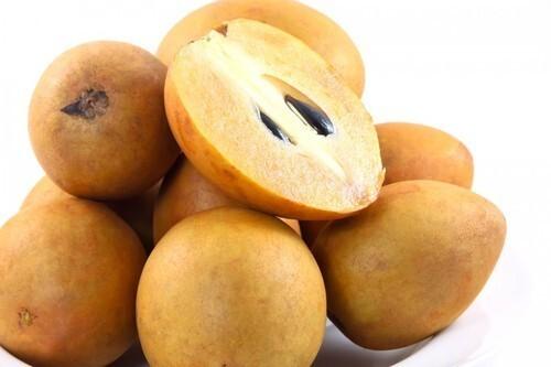 Brown Fresh Sapota Fruits