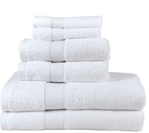 Cotton Plain White Towels Eco-Friendly