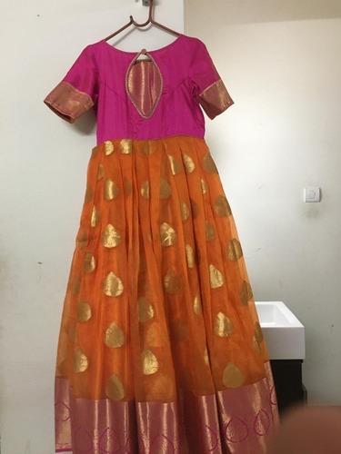 Short Sleeve Ladies Designer Gown