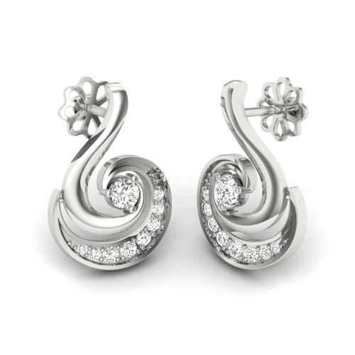 Attractive Look Silver Hanging Earrings