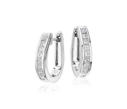 Designer Silver Huggie Earring