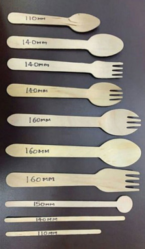 Disposable Wooden Brown Spoon