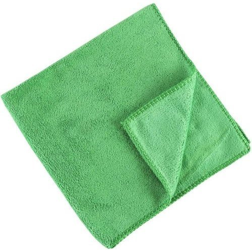 Green Plain Microfiber Cleaning Towel