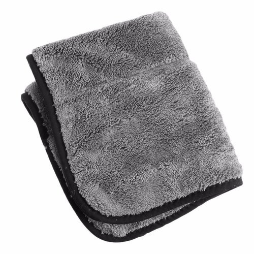 Grey Plain Cleaning Microfiber Cloths