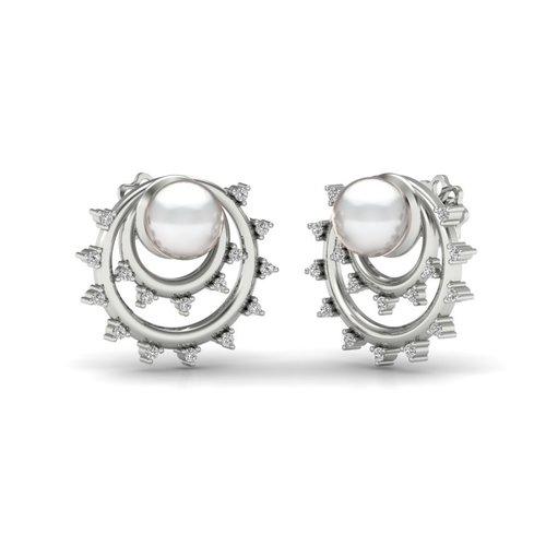 Ladies Designer Pearl Earrings