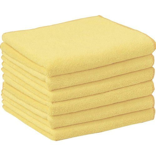 Light Yellow Soft Microfiber Cleaning Towel