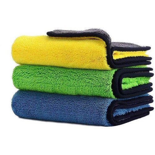 Yellow Plain Cleaning Microfiber Cloths