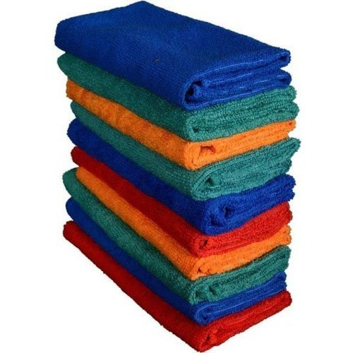 Plain Microfiber Car Cleaning Towel
