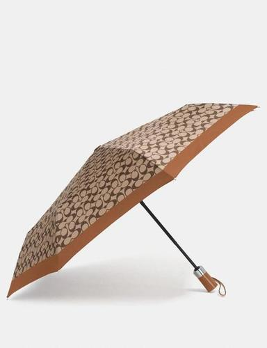 Printed Silver Round Umbrella