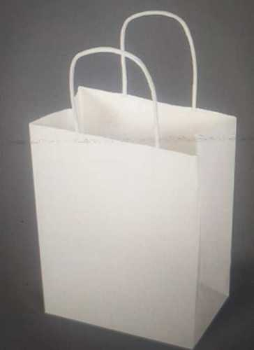 White Color Paper Carry Bags