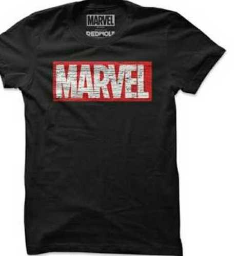 Black Color Short Sleeves Printed Boys T shirt