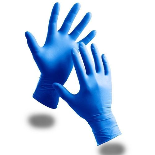 Blue Nitrile Disposable Hand Gloves