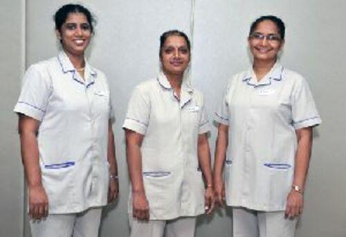 White Cotton, Polyester Hospital Uniforms