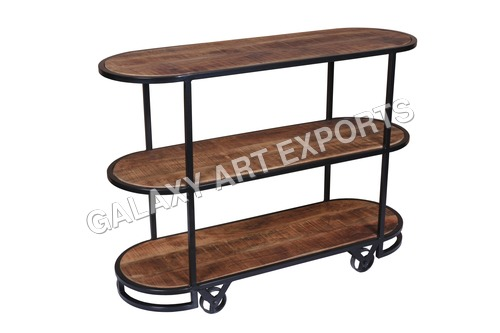 Handmade Finely Finished Open Trolley
