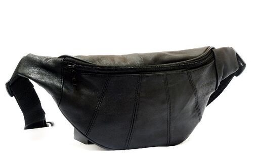 Genuine Sheep Leather One Zipper Waist Bag