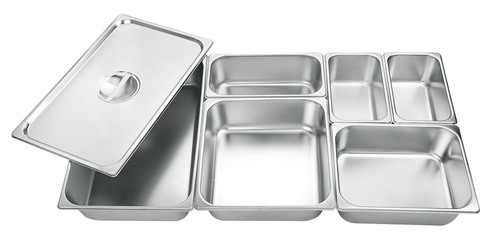 GN Pans in Stainless Steel & Polycarbonate