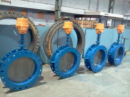 Industrial Motorized Damper Butterfly Valves