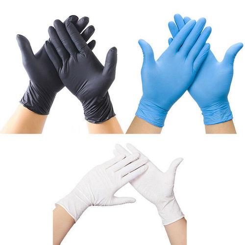 Blue Nitrile Medical Hand Gloves