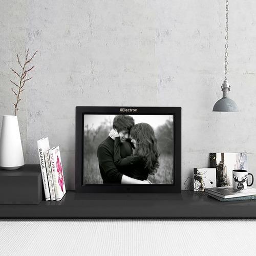 Black Xelectron 12-Inch Fully Functional Led Digital Photo Frame
