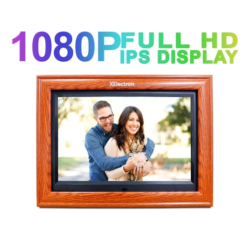 XElectron 12 inch IPS Wooden Digital Photo Video Frame