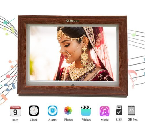 XElectron 15-Inch Fully Functional LED Digital Photo Wooden Frame