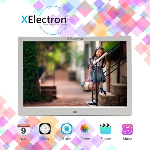 XElectron 15-Inch LED Digital Photo Wooden Frame