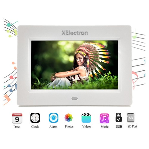 XElectron 7-inch LCD LED Digital Photo Video Frame