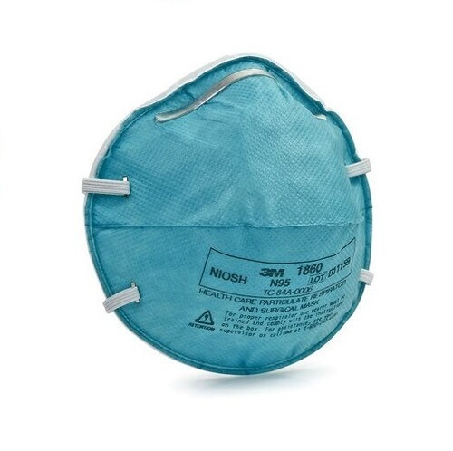 3M 1860 N95 Medical Respirator Face Mask