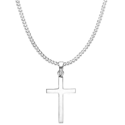 Attractive Finish Silver Cross Pendant