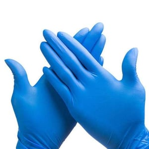 Blue Colored Medical Examination Gloves