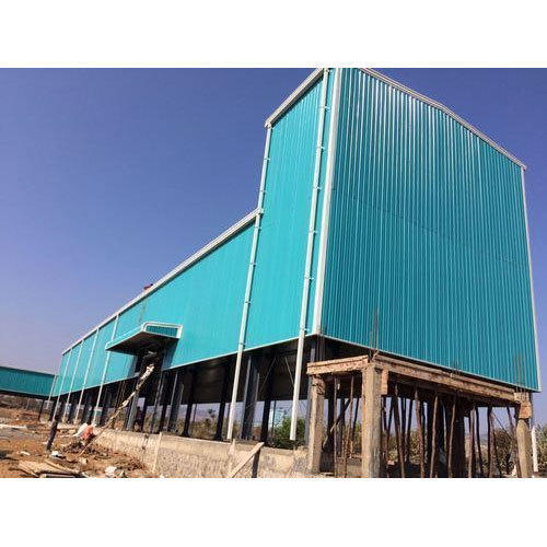 Blue Prefabricated Factory Shed