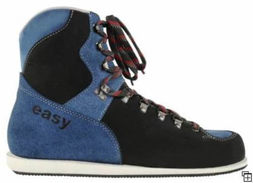 Easy Black Blue Shooting Shoes Material: Leather