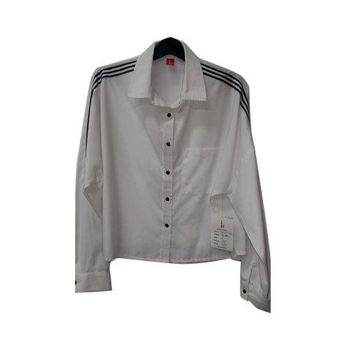 Full Sleeve Girls White Shirt