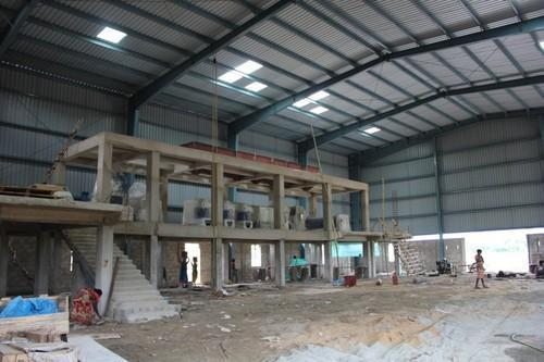Prefabricated Industrial Roofing Shed