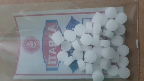 Round White Camphor Tablets