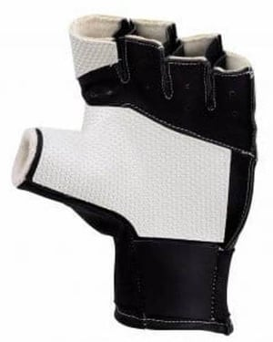 Short Black Shooting Gloves with Stretch able Band