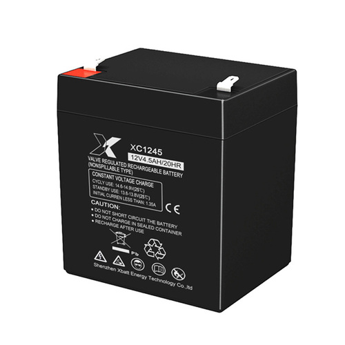 Black Agm Valve Regulated Rechargeable Lead Acid Battery