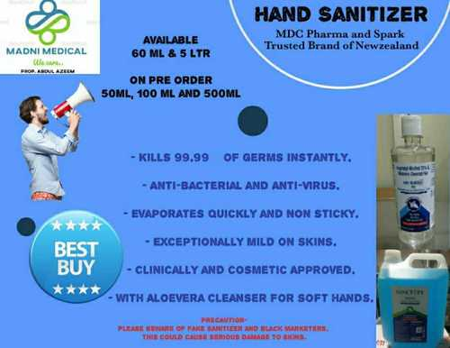 Alcohol Based Hand Sanitizer With Aloevera