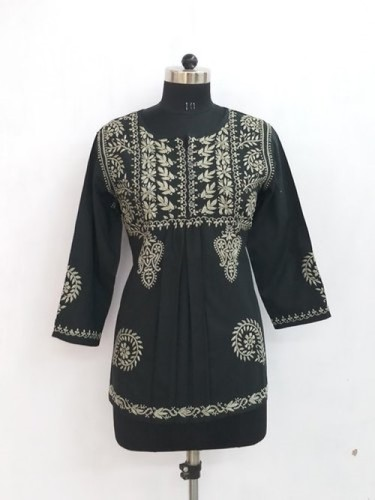 Chikan Hand Embroidered Top