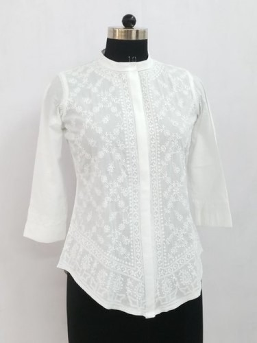 Chikankari Hand Embroidered Lucknowi Top