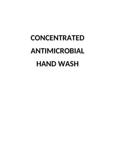Conc Antimicrobial Handwash
