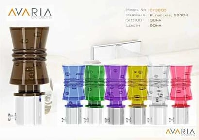 Multi-Color Designer Plexiglass Curtain Finials