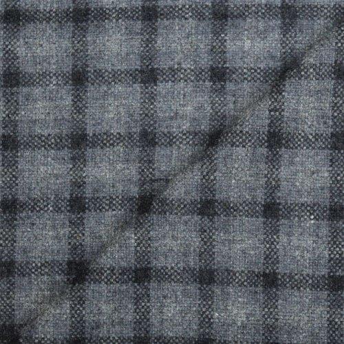 Fine Finish Wool Check Tweed Fabric