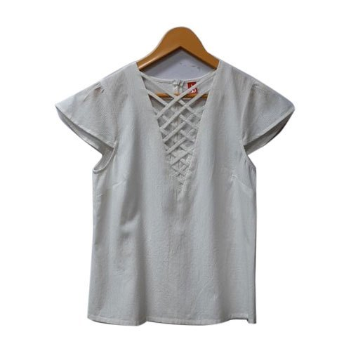 Girls White Designer Top