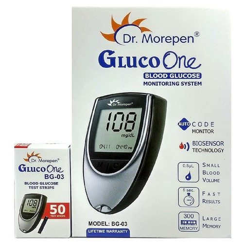 Gluco Meter Combo With 50 Strips