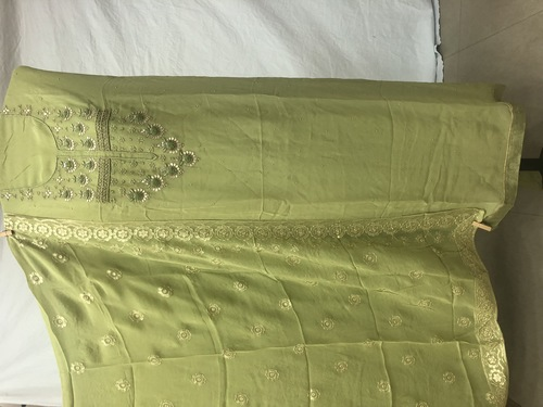 Ladies Hand Embroidered Salwar Suit With Heavy Dupatta