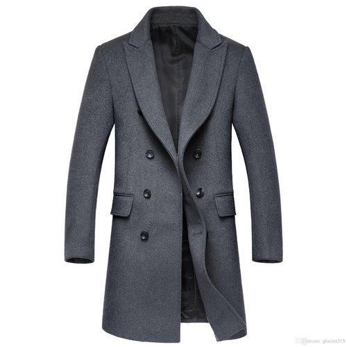 Mens Plain Woolen Overcoat
