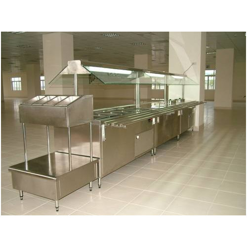 Bain Marie With Sneez Guard Canopy