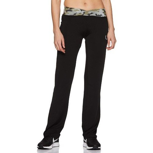 Black And Green Slim Fit Sports Track Pants